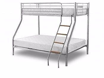 70% OFF NOW - BRAND NEW TRIO SLEEPER METAL BUNK BED SAME DAY EXPRESS DELIVERY