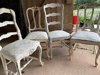 Shabby-chique dining chairs x 3