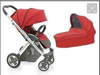 Babystyle Oyster Plus Travel System - Red