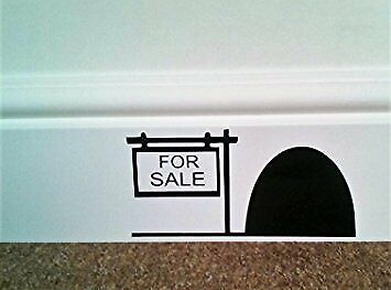 Mouse Hole House For Sale Skirting Board Wall Vinyl decal stickers