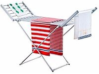 Live Clever Folding Heated Clothes Airer with Timer & 3 Heat Settings new unused