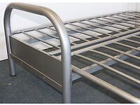 Double Metal Futon Sofabed. Silver. Frame Only