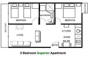 LOOKING FOR A FURNISHED 2 BEDROOM APARTMENT IN PETERBOROUGH