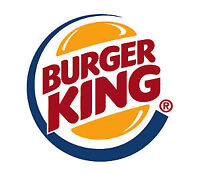 Burger King hiring Cashiers and Cooks.