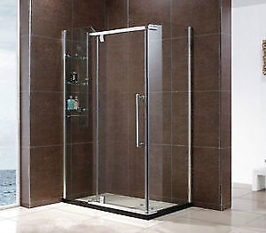 """★★ LIQUIDATION DOUCHES★★ 32x48"""" ou 36x48"""" VERRE 8MM - STAINLESS★"""