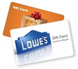 Home Depot and lowes gift card wanted