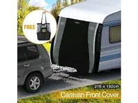 Caravan front towing cover