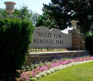 REDUCED Four (4) funeral plots at Valley View Cemetary
