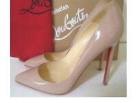 Women's Red Bottom Heels Nude Beige Size UK 3.5