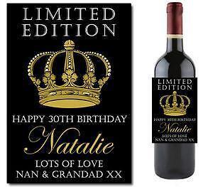 personalised wine label ebay