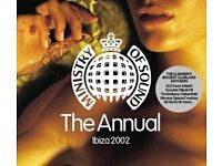 Ministry of sound and chillout albums.