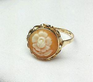 Antique cameo ring ebay antique gold cameo ring aloadofball Choice Image