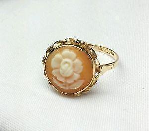 Antique cameo ring ebay antique gold cameo ring aloadofball Choice Image