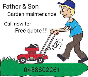 Father & Son garden maintenance