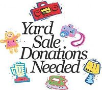 Donations for nonprofit yard sale
