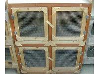 Two tier rabbit hutch block