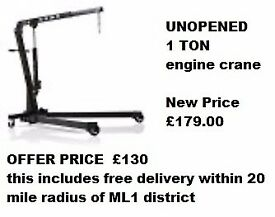 new lifiting equipment 1 ton engine crane was 179 selling for £130 FREE DELIVERY