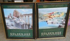 "2 ""Golden Age of Transport"" posters - Tiger Moth Byplane and De Haviland Dragon Byplane - £20.00"