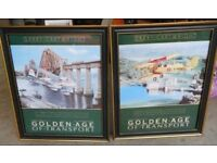 """2 """"Golden Age of Transport"""" posters - Tiger Moth Byplane and De Haviland Dragon Byplane - £20.00"""