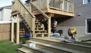 Decks and fences built to building codes