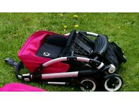 Bugaboo bee plus with pink hood and raincover