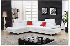 White sectional Sofa is the the is the pictur