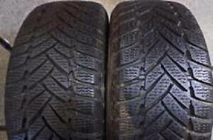 175/65R15 Set of 2 Dunlop used All Season tires 70%tread left. FREE Inst.&Bal.