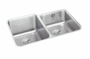 ELKAY UNDER MOUNT KITCHEN SINK - STAINLESS STEEL