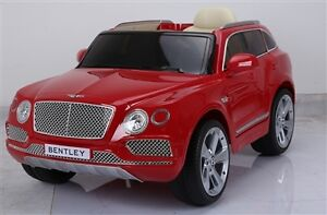 12V Licensed Bentley Bentayga Child Ride On Deluxe w Remote more