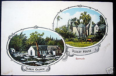BERMUDA~1900's OLDEST CHURCH ~ OLDEST HOUSE~ Multiview