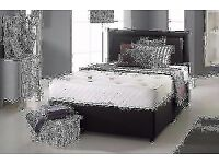 "BLACK MEMORY FOAM DIVAN BED SET + 10""LUXURY DUAL MATTRESS + HEADBOARD FREE DELIVERY"