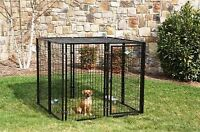A EXCELLENT WELL MADE DOG KENNEL/ENCLOSURE - IRON BRIDGE