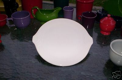 HANDLED SERVING TRAY cake plate white FIESTA 12
