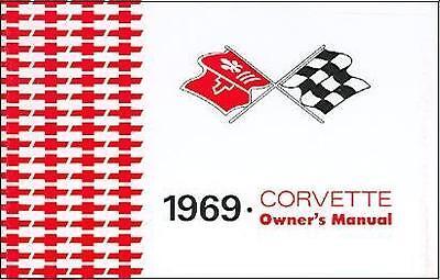 1969 69 Corvette Owners Manual