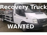 WANTED RECOVERY TRUCK / CHASSIS CAB / TIPPER / LUTON / BOX LORRY / NO MOT UNFINISHED PROJECTS CASH £