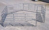 GALVANIZED ROUND PENS, PANELS, GATES, HORSES, SHEEP, MINIATURES