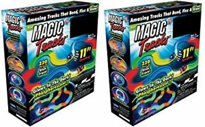 Magic Tracks 220-Piece Glow-in-the-dark Racetrack and Car Play S