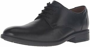 Clarks Men's Truxton Plain Dress Shoe, Black Waterproof Leather