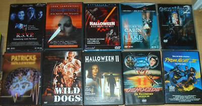 10 DVD Horror Filme Sammlung Halloween Prom Night Ghost house Genocide RSVP