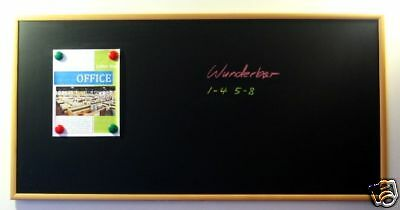 Handsome 48 X 24 Framed Magnetic Black Chalk Board Medium Tone Blackboard