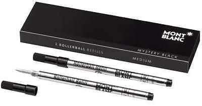 Montblanc Tintenrollermine schwarz M Rollerball-Refill 2er Pack
