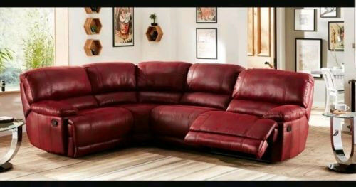 Sectional Corner Leather Dark Red Sofa From Harvey S For 600 Or Best Offer