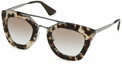 Prada PR09QS UAO-1L0 SPOTTED OPAL FRAME BROWN GRADIENT LENS CINEMA SUNGLASSES