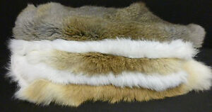 Rabbit-fur-hides-Pelts-White-Natural-Dark-Brown-You-Choose-color-and-quantity