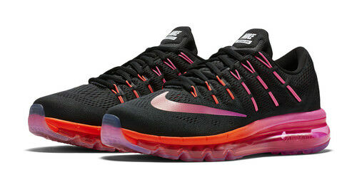5f07c9bb9c Nike Max 2016 Women's Air Running Shoes - 8 B(M) US, Black/Noble Red ...