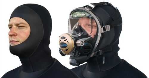 SEASOFT PRO / M6™ 6 mm Drysuit Hood for wearing with SCUBA Full Face Mask