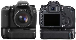 7D Pro DSLR Camera with Canon Battery Grip and 2 Batteries