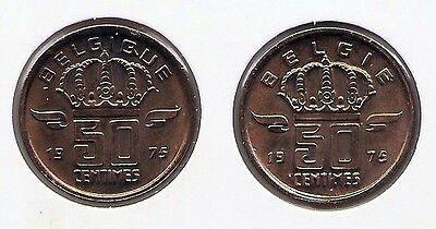 50 cent 1975 fr+vl * uit muntenset * FDC / UNC *