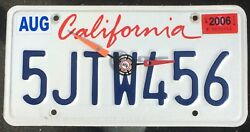 Genuine California License Plate Clock - Conclocktions