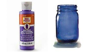 PURPLE SHEER COLOUR 4oz MOD PODGE TRANSPARENT GLASS METAL WOOD PAINT CS15082 (Mod Podge Glass)